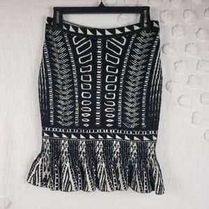 Torn By Ronny Kobo Black and White Sweater Skirt